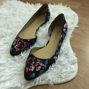 Talbots Floral Pointed Toe Flats